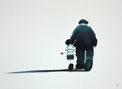 With Me Grandad by Mackenzie Thorpe -  sized 24x17 inches. Available from Whitewall Galleries